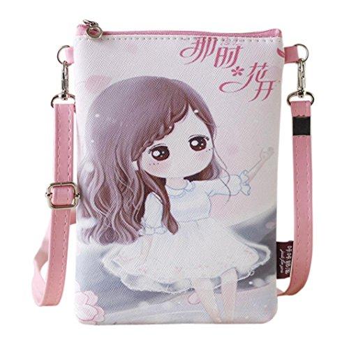 Rucksack Rcool Umhängetaschen Damen Handtaschen & Karikatur Handtaschen Kinder Mädchen Mini Crossbody Tasche (D)