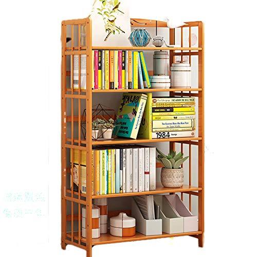 DULPLAY 2-5 Tier Für Kinder Bücherschrank,Bambus natürliche Multi-Layer Bodenstehende Offenes Regal Verdickt Storage Organizer Multipurpose Für CDs Bücher -O 78x25x154cm(31x10x61)