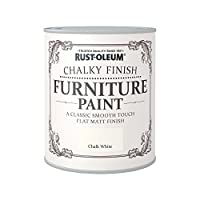 Rust-Oleum AMZ0010 RO0070001G1 A Classic, Smooth Touch Flat matt Paint Finish, Chalk White, 750ml
