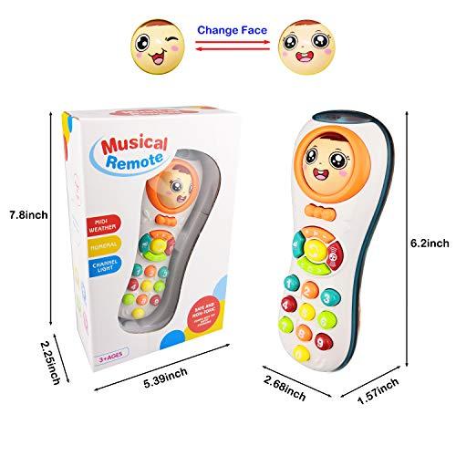 Spielzeug für 1 Jahr altes Mädchen, Spielzeug Fernbedienung für 2-3 Jahre altes Baby Kid Spielzeug für 3-12 Monate Kleinkind Jungen Geschenk für 1-3 Jahre altes Mädchen Spielzeug Geschenk Alter 1 2