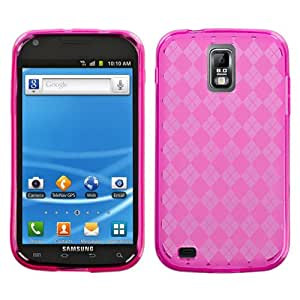 Hot Pink Argyle Candy Skin Cover For SAMSUNG T989(Galaxy S II) T-Mobile