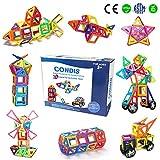 Condis Bloques de Construcción Magnéticos para niños, Juegos de Viaje Construcciones Magneticas imanes Regalos cumpleaños Juguetes Educativos para Niños Niñas de 3 4 5 6 7 8 Años, 78 Piezas