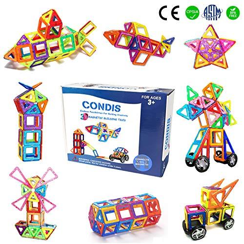 Condis Bloques Construcción Magnéticos niños, Juegos