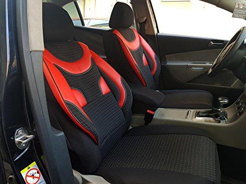 Sitzbezüge k-maniac   Universal schwarz-rot   Autositzbezüge Set Komplett   Autozubehör Innenraum   Auto Zubehör für Frauen und Männer   NO1724178   Kfz Tuning   Sitzbezug   Sitzschoner