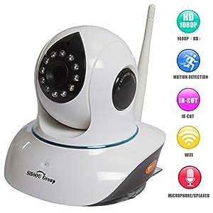 Sidiou Group Netzwerk-Schwenk-Neige-IP-Sicherheits-Spion Video-Überwachungskamera Wireless Monitor HD 1080p Nachtsicht-Kamera-Unterstützung 64G TF-Karte