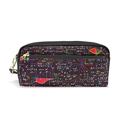 Alaza matematica scienza Pencil Case zipper PU cosmetici trucco borsa multifunzione penna cancelleria sacchetto di grande capacità