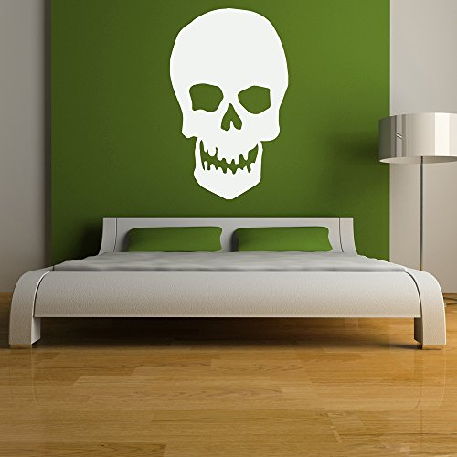 classic-skull-silhouette-halloween-wall-stickers-stagionale-home-decor-art-stickers-disponibile-in-5