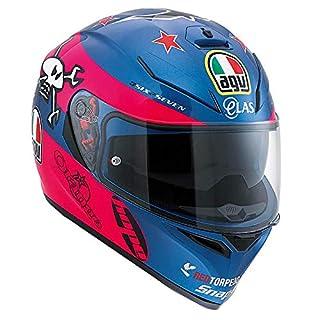 AGV 0301A1EY_003_L K-3 SV E2205 Replica Helm, GUY MARTIN Pink/Blue, Größe L