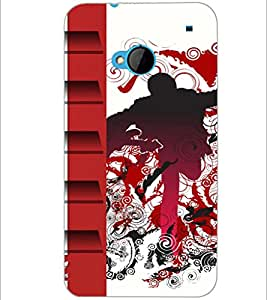 PrintDhaba Abstract Image D-5094 Back Case Cover for HTC ONE M7 (Multi-Coloured)