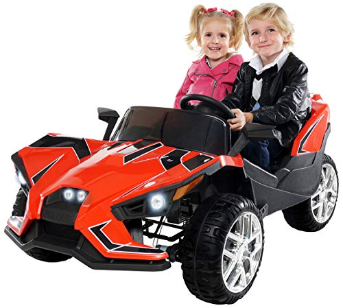 Actionbikes Motors Kinder Elektroauto GT Super Speed JC888 – 4x40 Watt Motor – 2-Sitzer - Eva Reifen – Allrad – Kinderauto (Rot)*