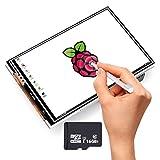 Ecran Tactile 480x320 LCD 3.5'' Compatible Avec Le Raspberry Pi 3 Modèle B, Avec Une Carte TF 16 GB SC06+TF De La Marque Kuman