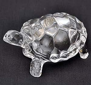 """StonKraft 6"""" Stonkraft Feng Shui Vastu Products Crystal Tortoise Turtle"""