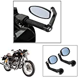 #9: Vheelocity Motorycle Bar End Mirror Rear View Mirror OvalFor Royal Enfield Continental Gt