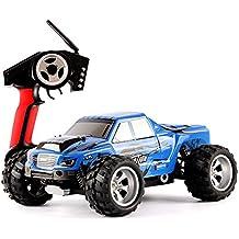 DAZHONG WLTOYS 1/18 escala eléctrico RC coche campo a través 4WD 2,4 GHz de alta velocidad del coche accionado por control remoto, Off-Road Buggy Hobby Juguetes