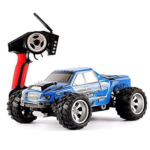 DAZHONG Wltoys 1/18 Skala-elektrisches RC Auto Offroad 2.4Ghz 4WD Hochgeschwindigkeitsfernsteuerbares Auto, nicht für den Straßenverkehr Hobby-Buggy-Spielwaren (blau)