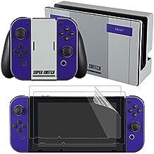 eXtremeRate® Super NES SNES Edition Skin Sticker Decal para Nintendo Switch con Protector de Pantalla (Consola y Joy-con y Dock & Grip)