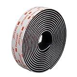 2m Klettband selbstklebend 3M Starkes Klettverschlussband (25.4mmm Breit, Schwarz, High Tech Dual Lock)