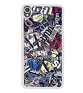 Fuson Designer Back Case Cover for HTC Desire 820 :: HTC Desire 820 Dual Sim :: HTC Desire 820S Dual Sim :: HTC Desire 820Q Dual Sim :: HTC Desire 820G+ Dual Sim (News Papers Cut Cut PApers Mingled Nice)