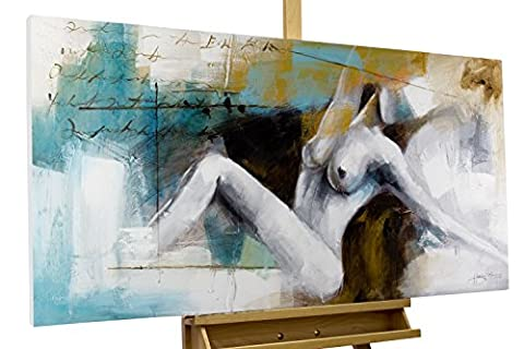 KunstLoft® Painting 'Moments of ecstasy' 120x60cm | hand-painted canvas | Artistic nude woman | Unique signed mural | Acrylic painting | Modern Art Picture | Original acrylic on stretched