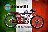 Schatzmix Benelli 50cc Cafe Racer Italien Motorrad blechschild