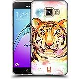 Head Case Designs Tigre Aquarelle D'animaux Étui Coque en Gel molle pour Samsung Galaxy A3 (2016)