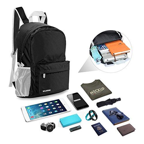 Imagen de mosslian  ultraligera plegable bolsa de viaje, ideal para senderismo, compra, ciclismo y escalada negro, l  alternativa
