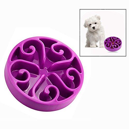 OFKPO Haustier Futternapf,Hundenapf für die Langsame Fütterung,Interaktive Futterschüssel für Katzen und Hunde(Lila)