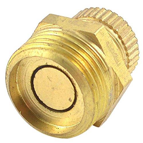TOOGOO(R) Luftkompressor der Metall-Ablaufventil der Teil Wasser 3/8 Ton Gold Gewinde maennlich PT