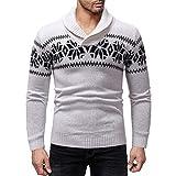 Soupliebe Männer Weihnachten Herbst Winter Pullover Gestrickte Top Pullover Outwear Bluse