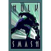 Marvel Póster de Hulk, tamaño grande, multicolor