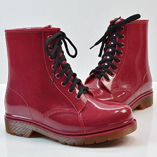 Ms. stivali da pioggia Martin stivali Red