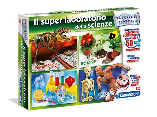 Clementoni 19027Físicos y juegos El superlaboratorio de ciencias (Il Super Laboratorio delle Scienze)