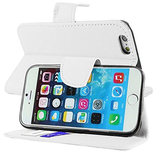 """ebestStar - pour Apple iPhone 6S 6 écran 4.7"""" - Housse Coque Etui Portefeuille Support PU Cuir + Stylet tactile + 3 Films protection écran, Couleur Rouge [Dimensions PRECISES de votre appareil : 138.1 Blanc"""