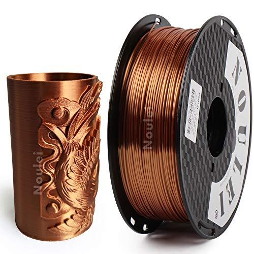 Noulei Filamento de para impresión 3d 1.75mm PLA, Silk COPPER Shiny Filament 1KG 1 Spool