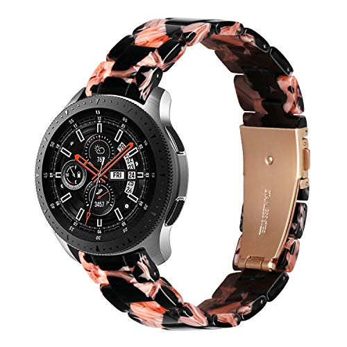 YaYuu Harz Armband für Samsung Galaxy Watch 46mm/Gear S3 Frontier/Classic 22mm Leichtgewicht Harz Ersatz Uhrenarmband Strap für Moto 360 2nd Gen 46mm/Huawei Watch GT/Watch 2 Classic Smart Watch