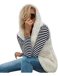 0170c19b0ea5d6 Lannister Fashion Damen Warmen Weste Outwear Ohne Arm Cardigan Kunstfell  Schwangeren Jacke Mantel Flaumig Coat Fleecemantel