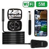 Opard Wifi Endoskop Wireless Endoskopkamera 2.0 Megapixel 1080P HD Drahtlose Inspektionskamera,IP68 Wasserdichte mit 8 Verstellbare LED für IOS Android Smartphone,Tablette - 5 Meter