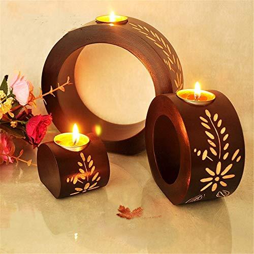 Ruixinshi Kreative Vintage Südostasiatischen Leuchter Dekoration Dekoration Thai Holz Leuchter Holz Weihnachten Halloween Kerzenhalter (Halloween Kerzenhalter Uk)