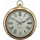 SMC 21.4-Zoll Silent Nicht-tickende Taschenuhren aus Kunststoff Dekorative Vintage-Stil römische Ziffer Uhr