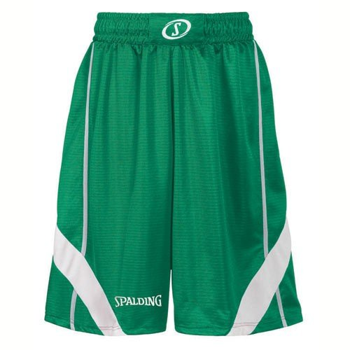 Court Basketball Shorts (Spalding Herren Bekleidung Teamsport Crunchtime Shorts Grün, XS)