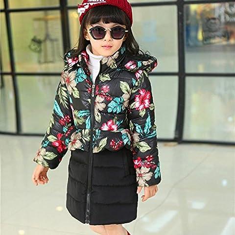 Ragazze di bambini inverno abbigliamento giacca cappotto della nuova Europa e la stampa in cotone per bambini abbigliamento , 160cm