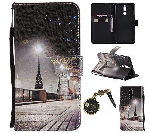 Coque mate10Lite Coque, PU Cuir Flip Housse pour Huawei Mate 10Lite Étui Case Cover Coque Housse de téléphone # Laoke