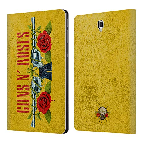 Head Case Designs Offizielle Guns N' Roses Pistolen Vintage Brieftasche Handyhülle aus Leder für Samsung Galaxy Tab S4 10.5 (2018) - Tab And Roses Guns