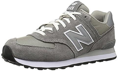 New Balance M574GS Unisex-Erwachsene Sneakers, Grau (GS GREY 12), 40 EU (6.5 Erwachsene UK)