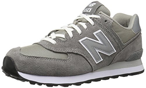 New Balance Herren 574 Core Low-Top - Grau (GS GREY 12), 42.5 EU (Herren Schuhe Grau)