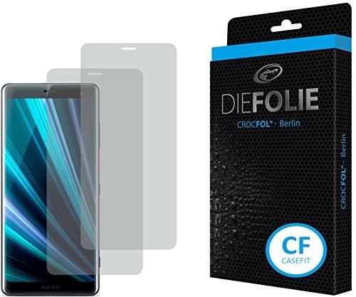 Crocfol Bildschirmschutz für Sony Xperia XZ3: 2X DIEFOLIE Schutzfolie Casefit Folie zur Nutzung mit Schutzhülle