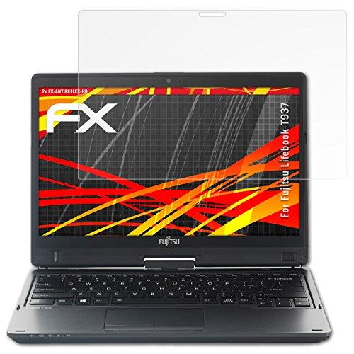 atFolix Schutzfolie kompatibel mit Fujitsu Lifebook T937 Bildschirmschutzfolie, HD-Entspiegelung FX Folie (2X)
