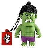 Tribe Disney Marvel Avengers Hulk USB Stick 8GB Speicherstick 2.0 High Speed Pendrive Memory Stick Flash Drive, Lustige Geschenke 3D Figur, USB Gadget aus Hart-PVC mit Schlüsselanhänger – Grün