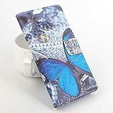 Easbuy Bunt Pu Leder Kunstleder Flip Cover Tasche Handyhülle Hülle Case Handytasche Schutzhülle Etui für Elephone P9000 Lite Smartphone
