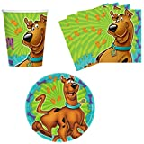 Amscan Scooby-Doo Birthday Party Supplies Set Plates Napkins Cups Kit for 16 by Amscan